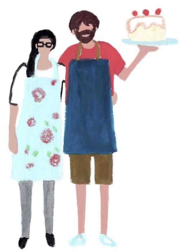 Maddison and Ben at the Tea Barn, Durleighmarsh Farm