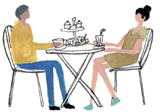 Afternoon tea at the tea barn